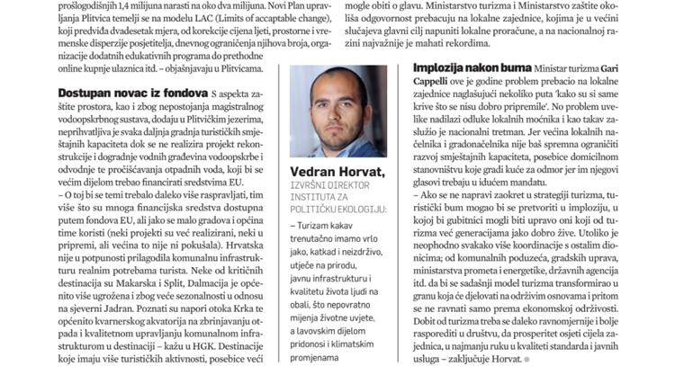 "<a href=""http://ipe.hr/wp-content/uploads/2017/10/064-066-istrazivanja-HoReCa.pdf"" target=""_blank"">Tekst o održivosti i turizmu, sugovornik Vedran Horvat | Lider, listopad 2017.</a>"