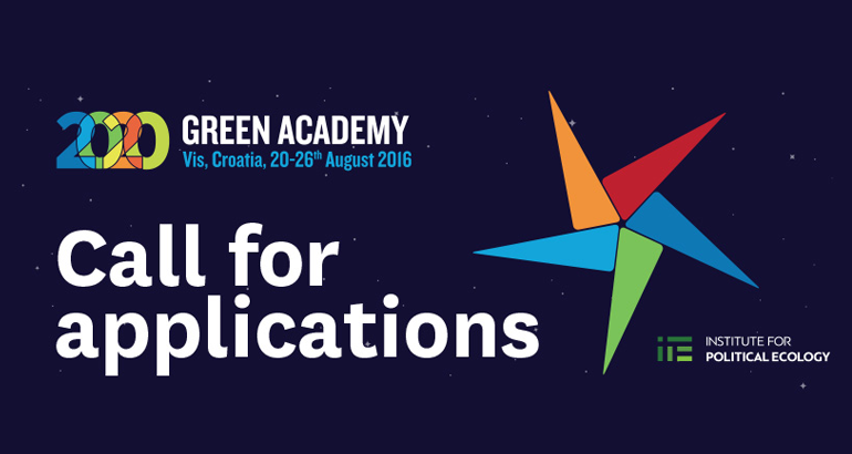 Green Academy 2020 – Tipping points / List of selected applicants