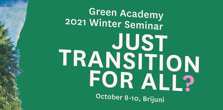 Zimski seminar Zelene akademije - Pravedna tranzicija za sve?